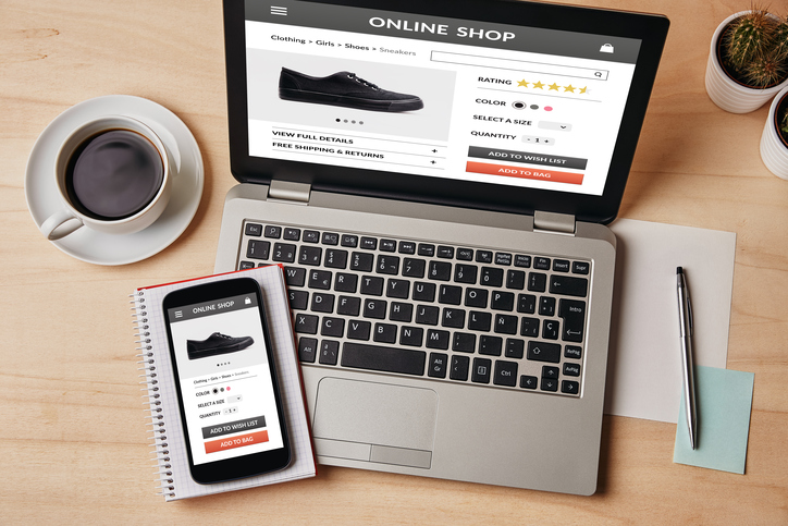 Online e-commerce shopping