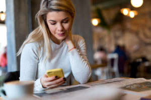 using smart phones for shopping