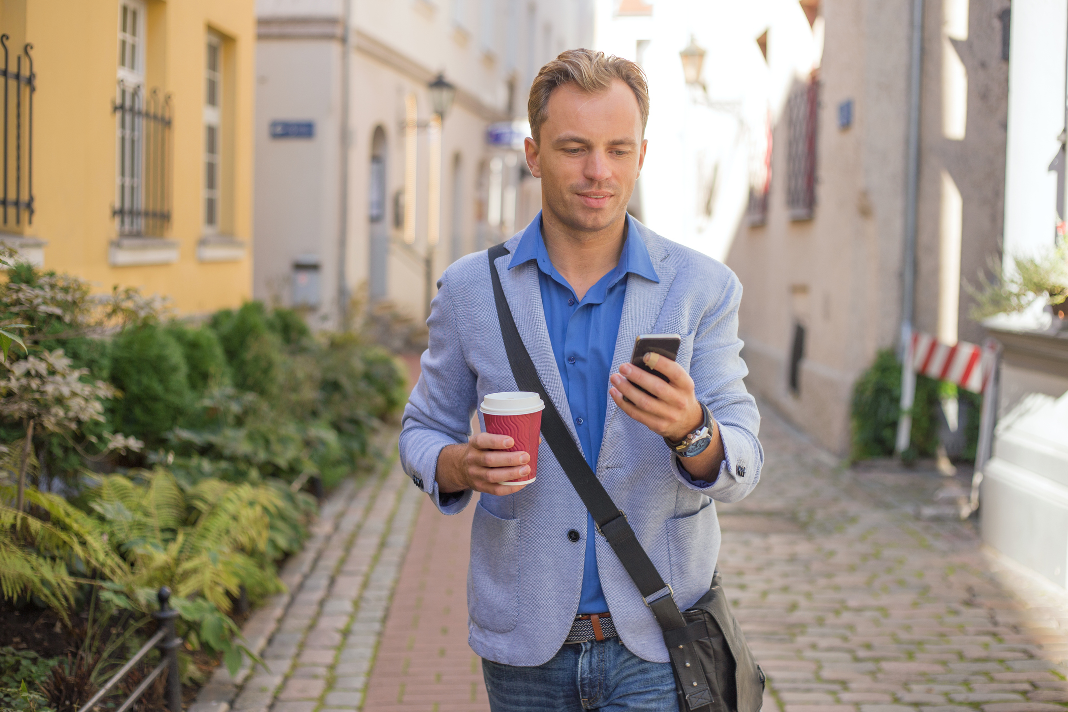 checking a smart-phone for mobile-first