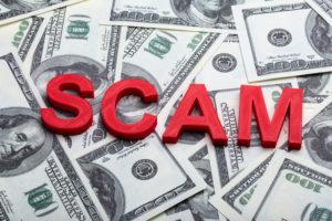 Online marketing scam